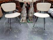 Sale 8661 - Lot 1083 - Pair of Vintage Metal Base Dining Chairs
