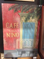 Sale 8771 - Lot 2069 - Chez Nino Cafe Artwork