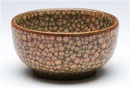 Sale 9168 - Lot 481 - Crackle glazed small Chinese bowl (Dia:10cm)