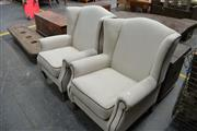 Sale 8013 - Lot 1472 - Pair of Upholstered Wingbacks