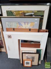 Sale 8491 - Lot 2029 - Group of (13) Assorted Artworks Including Original Watercolours, Engravings, Decorative Prints, framed, various sizes