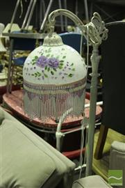Sale 8499 - Lot 1090 - Glass Hanging Shade Standing Lamp