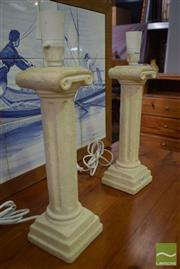 Sale 8532 - Lot 1162 - A pair of Ceramic classical style lamp bases, each 41cm height
