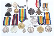 Sale 8710 - Lot 11 - British And Australian War Medals And Badges