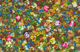 Sale 9125A - Lot 5064 - Tess M - Wild Bush Flowers 77 x 118 cm (stretched and ready to hang)