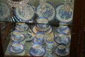 Sale 7875 - Lot 77 - Tuscan Willow Pattern Tea Wares & Others