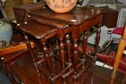 Sale 8013 - Lot 1140 - Nest of 3 Timber Tables