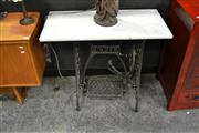 Sale 8147 - Lot 1006 - Metal Singer Treadle Base with Marble Top