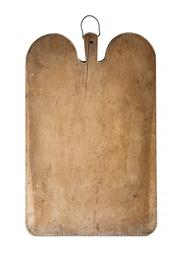 Sale 8444A - Lot 22 - An antique French large timber bread / cheese board, 65 x 43 x 4.5cm