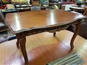 Sale 8462 - Lot 1067 - Carved Timber Coffee Table on Cabriole Legs