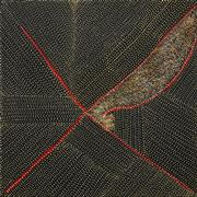 Sale 8535 - Lot 513 - Kathleen Petyarre (c1940 - ) - Arnkerrth (Thorny Devil) 60 x 60 (stretched & ready to hang)