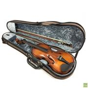Sale 8648A - Lot 63 - Half Violin With Bow In Case