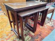 Sale 8723 - Lot 1046 - Quality McIntosh Rosewood Nest of Tables with fold over top