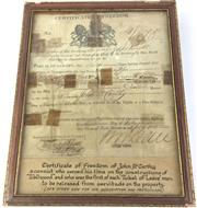 Sale 8793 - Lot 84 - Certificate of Freedom 41/875, ticket of leave for John McCarthy 1835