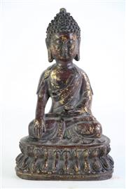 Sale 8849 - Lot 3 - Small Bronze Figure of a Buddha, H:19cm