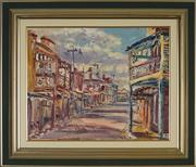 Sale 8867A - Lot 5060 - David Badcock (1960 - ) - Early Morning Mayne Street Gulgong 39 x 49.5cm