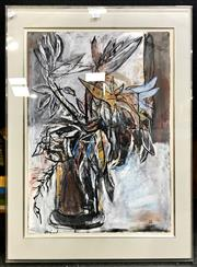 Sale 8945 - Lot 2063 - Artist Unknown - Still Life - Bird of Paradise mixed media, 90 x 65cm (frame), intialled S