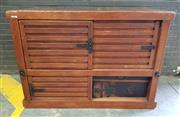 Sale 8956 - Lot 1001 - Large Japanese Pine Tansu Chest with four sliding doors and iron mounts (H:130 x W:150 x D:80cm)