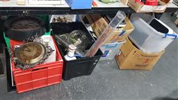 Sale 9152 - Lot 2522 - 7 boxes of sundries inc clocks, phones, glasswares and others