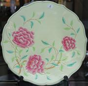 Sale 7950 - Lot 24 - Large Art Deco Pottery Charger with Peonies