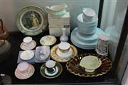 Sale 8327 - Lot 65 - Carlton Ware Gilt Rimed Dish & Other Ceramics incl Royal Doulton
