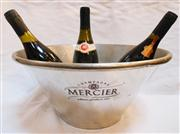 Sale 8362A - Lot 73 - A large vintage French champagne bucket in polished pewter, size 40 x 19 cm