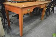 Sale 8392 - Lot 1055 - Timber Desk with Two Drawers