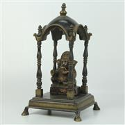 Sale 8412A - Lot 7 - Bronze Ganesha In Temple height -29cm