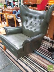 Sale 8435 - Lot 1076 - G-Plan Winged Buttoned Back Armchair