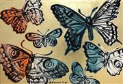Sale 8451E - Lot 5035 - David Bromley (1960 - ) - Butterflies 76 x 111cm (frame size: 80 x 115cm)