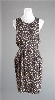 Sale 8493A - Lot 87 - A 100% silk animal print dress by Gorman, AU size 10