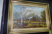 Sale 8509 - Lot 2045 - Theresa Kennedy - Australian Bush Scene 40 x 60.5cm