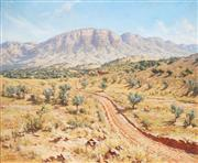 Sale 8565 - Lot 526 - Howard Barron (1900 - 1991) - Mount Hayward Range, Flinders Ranges SA 49.5 x 60cm