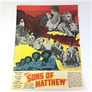 Sale 8793 - Lot 73 - Australian Film Posters 1949, double-sided; Sons of Mathew & Into The Straight, 55 x 42cm each, unframed. Rare.