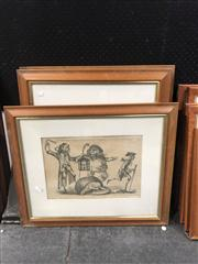 Sale 8824 - Lot 2079 - Group of (5) Early English Engravings (framed) -