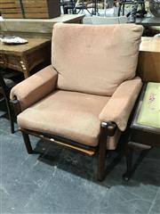 Sale 8893 - Lot 1081 - Pair of Vintage Upholstered Armchairs (a/f)
