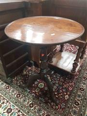 Sale 8917 - Lot 1027 - 19th Century Mahogany Wine Table, with round top, baluster pedestal & outswept kegs