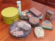 Sale 9058H - Lot 66 - An assortment of vintage tins including biscuit, tobacco etc