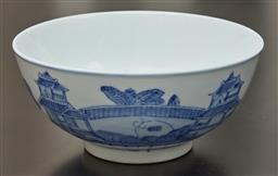 Sale 9108H - Lot 13 - A Chinese blue and white externally decorated bowl, Height 11cm Diameter 25cm