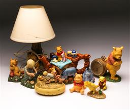 Sale 9110 - Lot 70 - A Disney showcase collection Winnie the Pooh limited edition tea pot together with other Winnie wares (tallest - H:29cm)