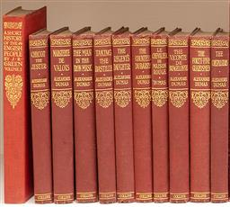 Sale 9190W - Lot 47 - A set of ten volumed by Alexander Dumas published by Collins.