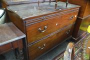 Sale 8335 - Lot 1098 - George III Mahogany Chest of Two Drawers, with slide & ogee bracket feet