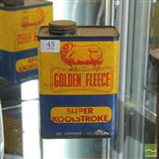 Sale 8364 - Lot 1016A - Golden Fleece Super Koolstroke Oil Tin