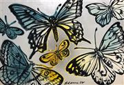 Sale 8451E - Lot 5038 - David Bromley (1960 - ) - Butterflies 76 x 111cm (frame size: 80 x 115cm)