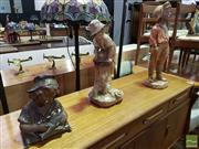 Sale 8532 - Lot 1073 - Collection of 3 Slip Cast Plaster Statues