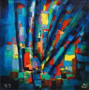 Sale 8575 - Lot 562 - Kevin Charles (Pro) Hart (1928 - 2006) - Abstract in Blue, 1978 90.5 x 90.5cm