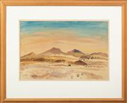 Sale 8653A - Lot 88 - Len Annois - Central Australian Landscape 31 x 46cm