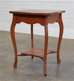 Sale 9188 - Lot 1358 - Vintage timber side table with shelf below (h72 x d70cm)
