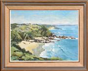 Sale 8266 - Lot 506 - Rhys Williams (1894 - 1976) - Burgess Beach, Cape Hawk 44.5 x 60cm