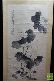 Sale 8508 - Lot 75 - Chinese Scroll Depicting White Flower